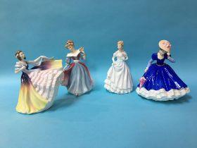Four Royal Doulton figures
