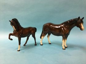A Beswick horse and one other (2)