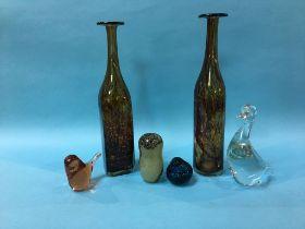 Various Mdina and other studio glass (6)