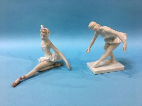 Royal Dux and Lladro figures of ballerinas