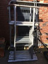 A scaffold tower