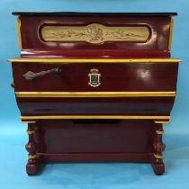 A Faventia miniature barrel piano
