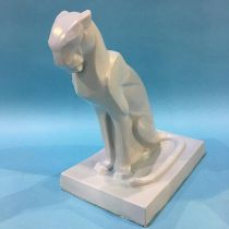 An Art Deco Wedgwood figure of a Panther by John Skeaping, impressed marks to side 27cm Height