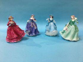 Four Royal Worcester figures