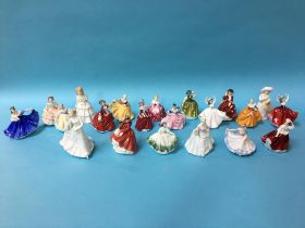 Twenty one small Royal Doulton figures (21)