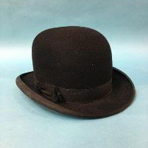 A Stetson bowler hat, size 7'18