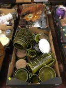 A quantity of Hornsea etc., in two trays