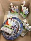 A quantity of Yardley soap dishes etc.