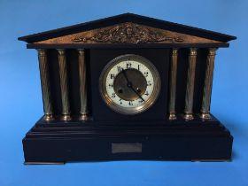 A slate mantle clock