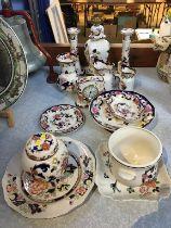 A large collection of Mason Mandalay china