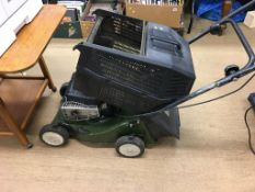 A petrol lawnmower