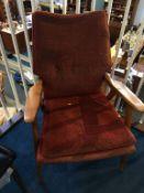 A 1960's armchair