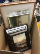 Various pictures, to include watercolours and oils