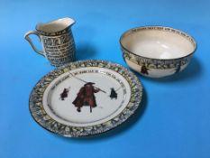 Three pieces of Royal Doulton Isaac Walton ware