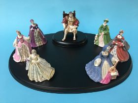 A group of Coalport figures 'Henry the VIII' and his six wives