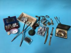 A quantity of assorted costume jewellery and wristwatches etc.