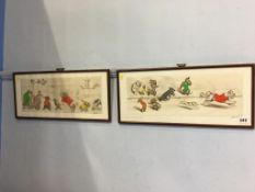 A pair of prints after Boris O'Klein, signed and titled in pencil, 52 x 23cm