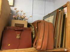 Various pictures and briefcases etc.