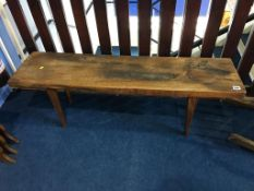 A Reynolds of Ludlow plank top occasional table
