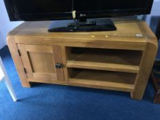 An oak TV unit