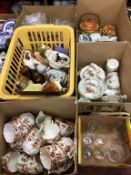 Six boxes of assorted, to include tea china and cottage ware etc.