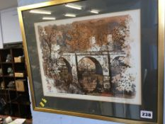 A print after Norman Wade 'Prebends Bridge'