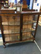A mahogany china cabinet