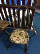 An Ercol rocking chair