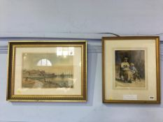 Two gilt framed watercolours, Isabel Wylie Lowe and George James Knox