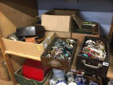 Six boxes of assorted, to include costume jewellery