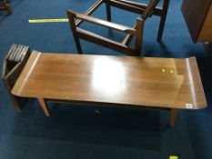 A teak coffee table