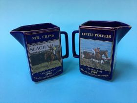 Two Grand National water jugs, 1989 and 1990
