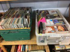 A large quantity of CDs