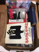 A quantity of books, military history