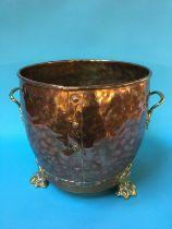 A large copper planter