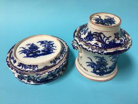 Two Sunderland Pottery lidded dishes