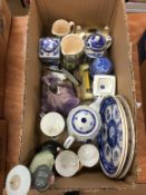 A box of assorted, to include Lladro and Ringtons china etc.