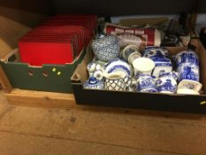 Four boxes of assorted to include Ringtons china