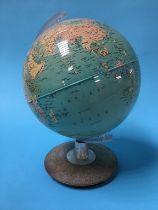 A terrestrial globe