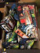 A quantity of Star Wars figures etc.