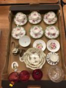A part coffee service and Rosenthal dishes etc.