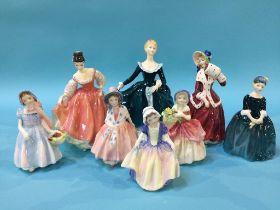 Eight Royal Doulton figures