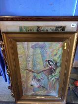 A print, watercolour and a mirror