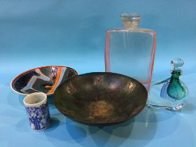 A Poole bowl and a Bjorn Wiinblad vase etc.