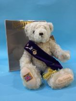 A boxed Merrythought bear