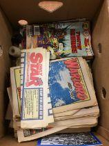 A quantity of vintage comics