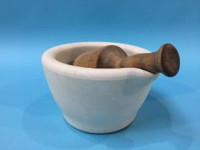 A pestle and mortar