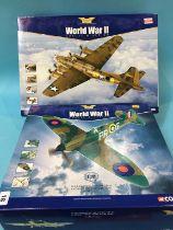 Two boxed Corgi planes