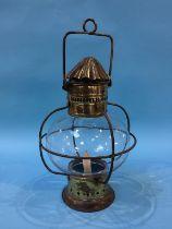 A brass and glass lantern