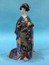 A Japanese figure of a Geisha